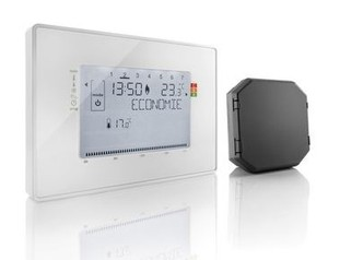 thermostat programmable sans fil contact sec. Black Bedroom Furniture Sets. Home Design Ideas